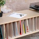 Meuble vinyle bois clair fabriqué en france