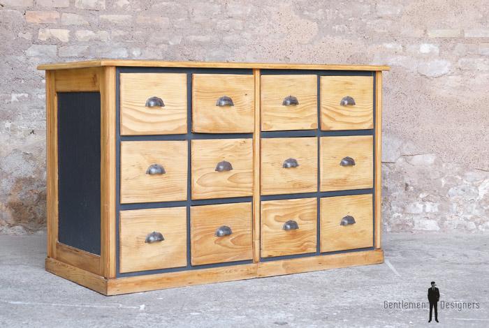 Comptoir ancien bois magasin boutique bar caisse clair tiroir