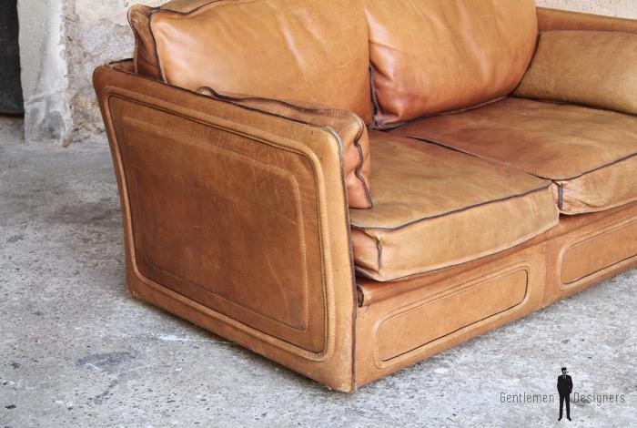 canap esprit desede cuir brun confortable gentlemen designers. Black Bedroom Furniture Sets. Home Design Ideas