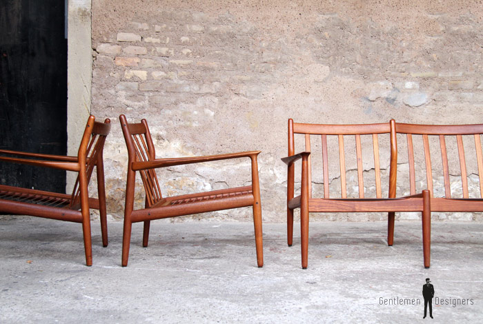canap et fauteuils scandinave en teck grete jalk gentlemen designers. Black Bedroom Furniture Sets. Home Design Ideas