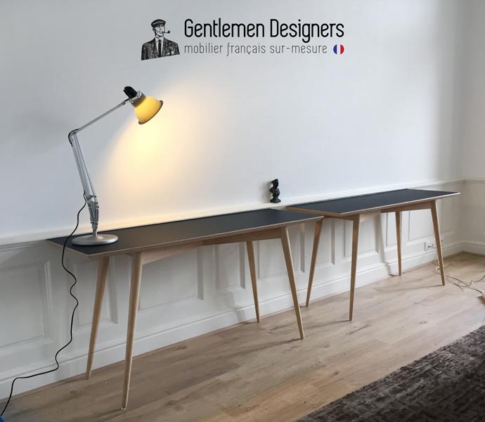 vintage creation el gantes consoles noir mat made in france. Black Bedroom Furniture Sets. Home Design Ideas