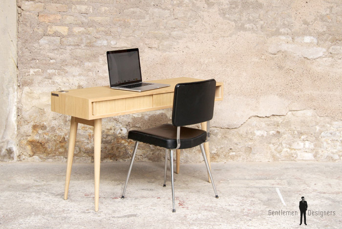 Bureau meuble style vintage sur mesure made in france