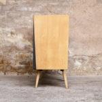 Commode vintage chêne clair, rénovée, 3 tiroirs
