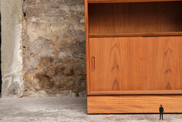 Meuble de rangement, étagères vintage, scandinave en teck
