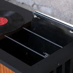 Meuble vinyle enfilade scandinave vintage teck