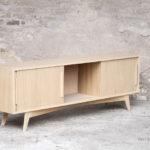 meuble hifi tv bois chêne, made in France, sur-mesure