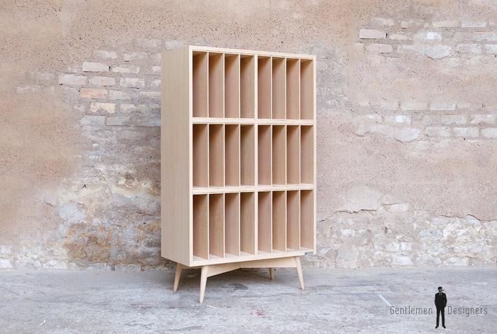 meuble vinyle vintage sur mesure chine bois made in france