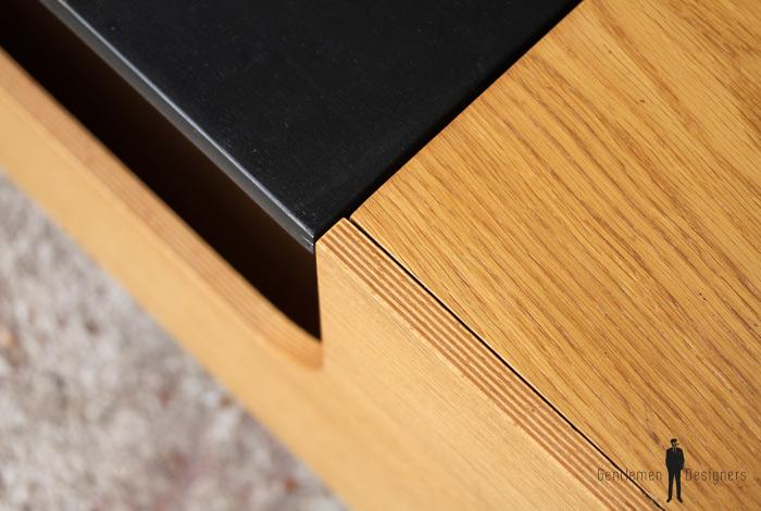 Table basse design porte revue salon chene clair