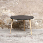 Table basse tripode gris anthracite Valchro