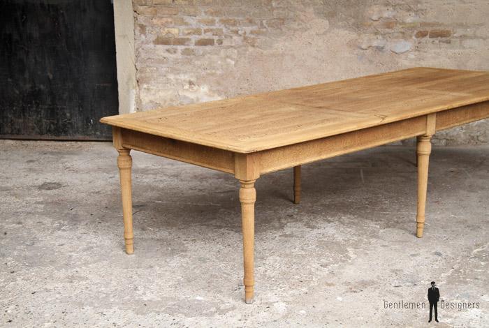 grande table de campagne restaurant ancienne en ch ne gentlemen designers. Black Bedroom Furniture Sets. Home Design Ideas