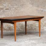 Table vintage scandinave teck graphique rallonge