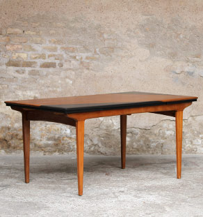 Table vintage scandinave teck graphique rallonge