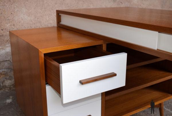 Bureau teck scandinave sur mesure bois