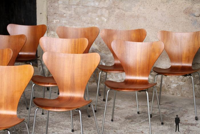 10 chaises vintage scandinave teck fritz hansen jacobsen n7 - Chaise Vintage Scandinave
