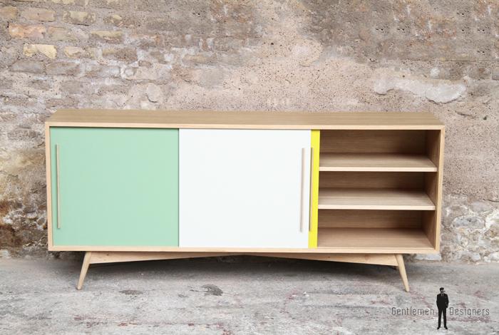 buffet enfilade vaisselier style scandinave made in france. Black Bedroom Furniture Sets. Home Design Ideas