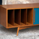 Meuble bas tv scandinave sur mesure made in france teck vinyle