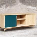 meuble vaisselier bois clair chine portes coulissantes sur mesure