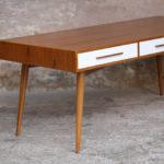 GRAND BUREAU MINISTRE - Bois - Teck, chene - sur-mesure, made in france, Meuble style vintage -