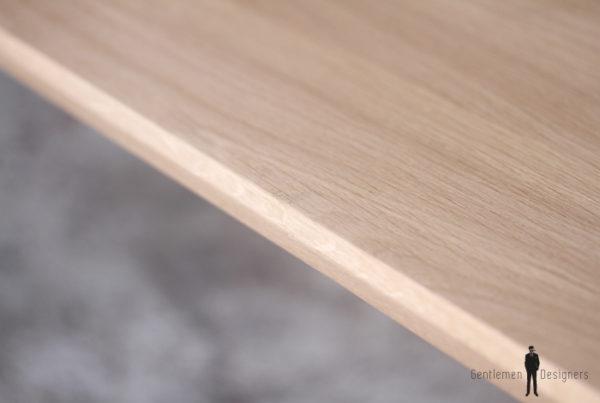 TABLE RALLONGES CHENE MASSIF - sur-mesure - bois - pieds compas clair paris repas