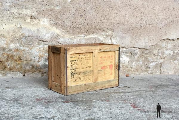 Caisses anciennes en bois massif, transport, vin, fruit…petit modele