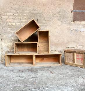 30 caisses anciennes en bois massif transport vin fruits. Black Bedroom Furniture Sets. Home Design Ideas