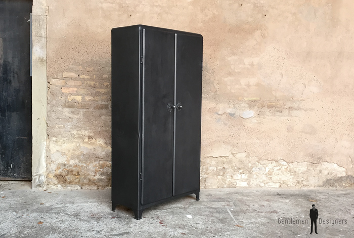 armoire meuble industriel mtal anne 50 angles arrondis