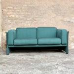 Canapé 2 places en tissu, bleu/vert gentlemen designers