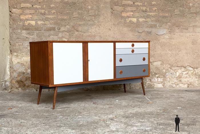 meuble buffet enfilade vintage scandinave en teck relook. Black Bedroom Furniture Sets. Home Design Ideas