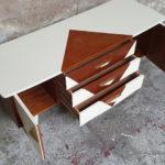 Petit meuble tv hifi, vintage scandinave motif graphique