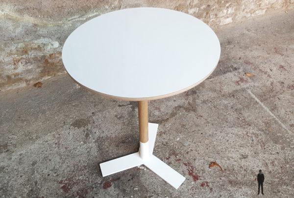 Table bistrot ronde sur mesure fabriquée en France