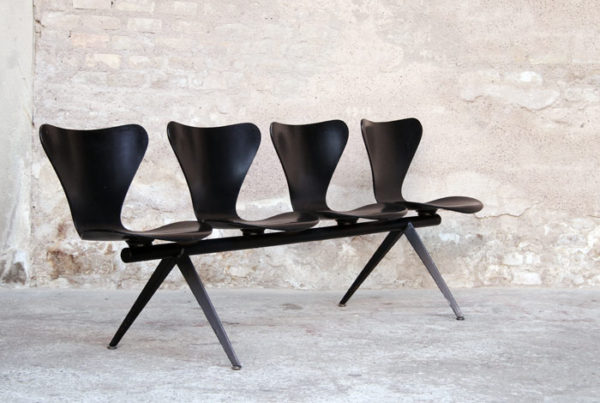 Banc Arne Jacobsen vintage, série 7, Fritz Hansen
