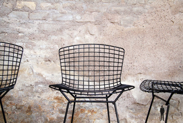 8 chaises vintage noir fil d'acier, H.Bertoia, Knoll 1952 gentlemen designers rare lot