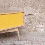 Meuble tv hifi bas bois épuré scandinave couleur petit compas gentlemen designers vintage enfilade