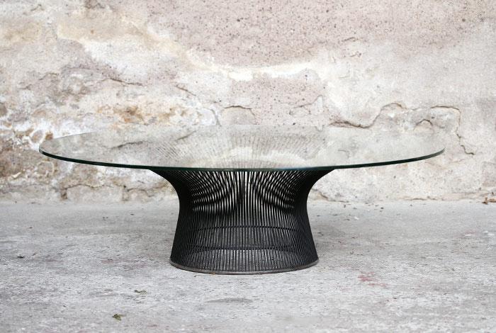 Basse VerreWarren En Vintage PlatnerKnoll1960 Table OPikXuTZ