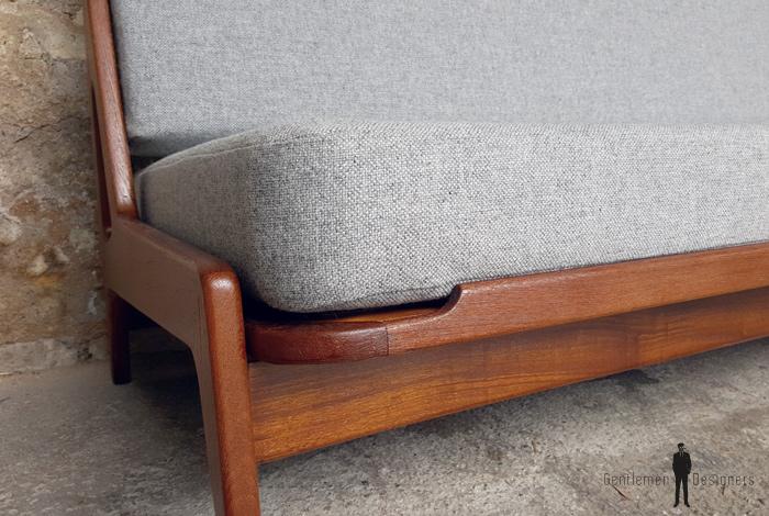 canap daybed vintage scandinave en teck a w iversen kvadrat. Black Bedroom Furniture Sets. Home Design Ideas