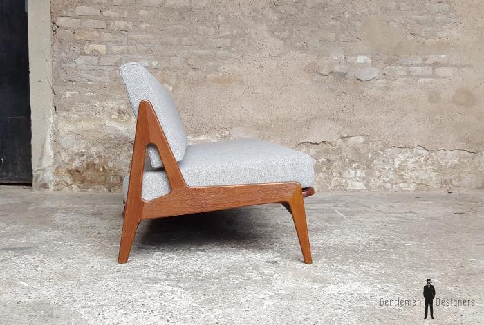 Canapé daybed vintage scandinave en teck. A.W.Iversen, Kvadrat gentlemen designers
