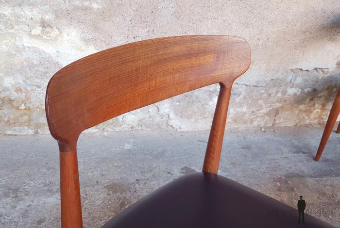 6 chaises vintage scandinave teck Johannes Andersen