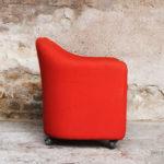 Fauteuil rouge PS 142, Eugenio Gerli, Tecno, Italy gentlemen designers vintage