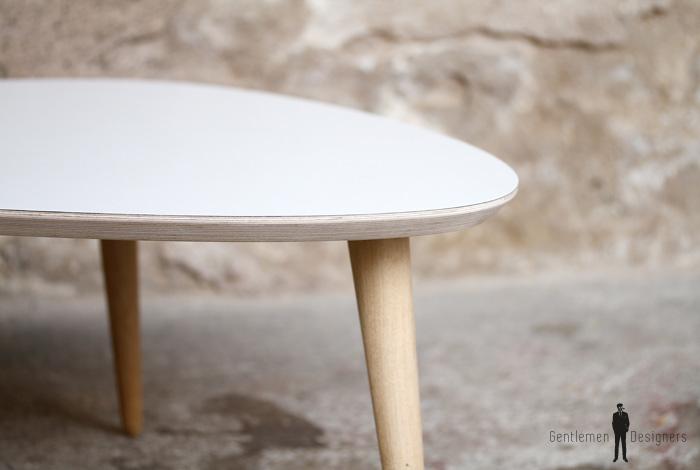 TABLE BASSE TRIPODE GIGOGNE - esprit vintage - pieds compas