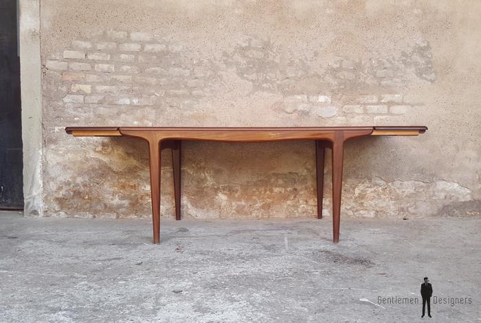 Table à rallonges scandinave en teck, Andersen, Danemark gentlemen designers
