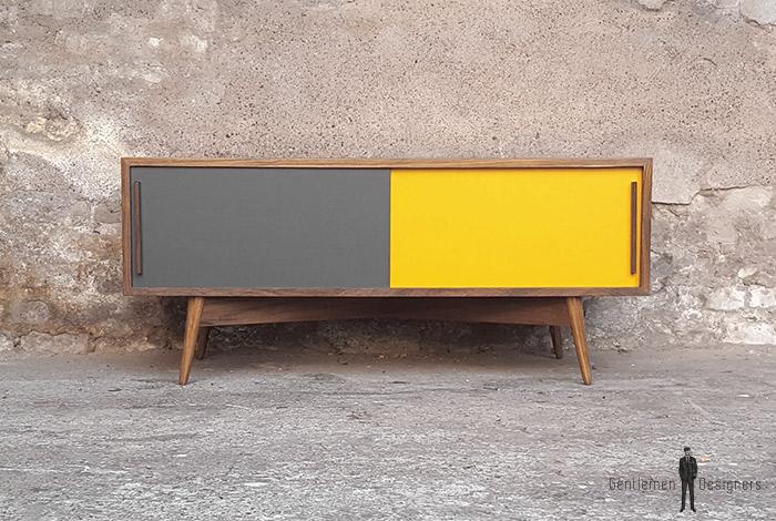 enfilade_teck_blanc_2_porte_gris_jaune_sur_mesure_vintage_unique_original_gentlemen_designers_strasbourg_paris_alsace_handschuheim_bas-rhin_france-(1)