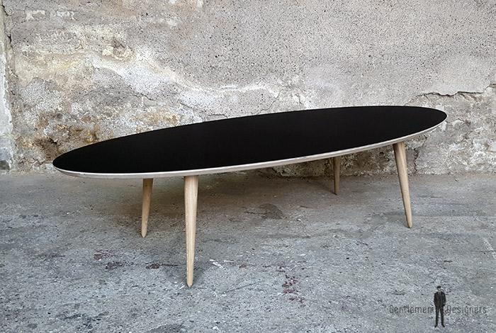 creation sur mesure table basse ovale noir l170cm tbo st 01. Black Bedroom Furniture Sets. Home Design Ideas