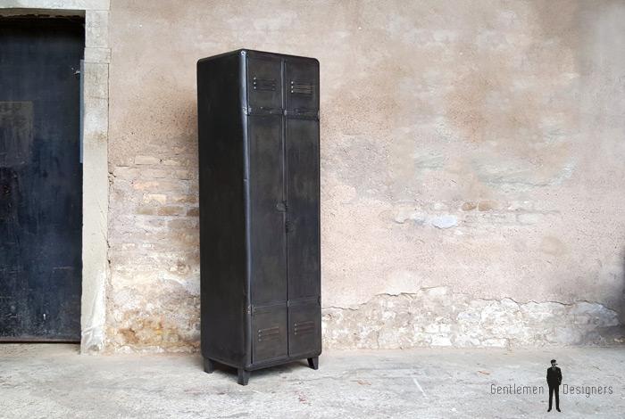Armoire deux portes, vestiaire, rangement en métal, style indus Gentlemen Designers