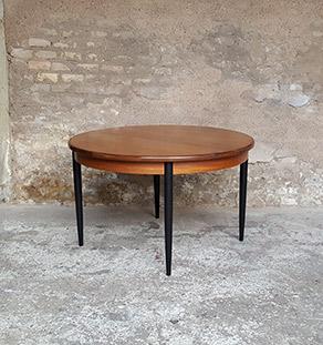 table_manger_ronde_pieds_noir_teck_vintage_unique_original_gentlemen_designers_strasbourg_paris_alsace_handschuheim_bas-rhin_france-vignette