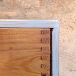 Meuble de métier en bois, 12 tiroirs, style industriel