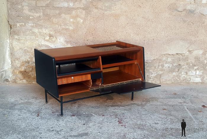 meuble vintage teck radio d tourn philips ann es 70. Black Bedroom Furniture Sets. Home Design Ideas