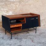 Meuble vintage teck, radio détourné, Philips, années 70 gentlemen designers