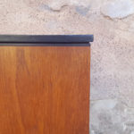 Enfilade vintage scandinave, teck, poignées noires