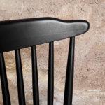 6 chaises à barreaux vintage noir, style Baumann V5 vintage Gentlemen designers V5 Baumann strasbourg paris alsace