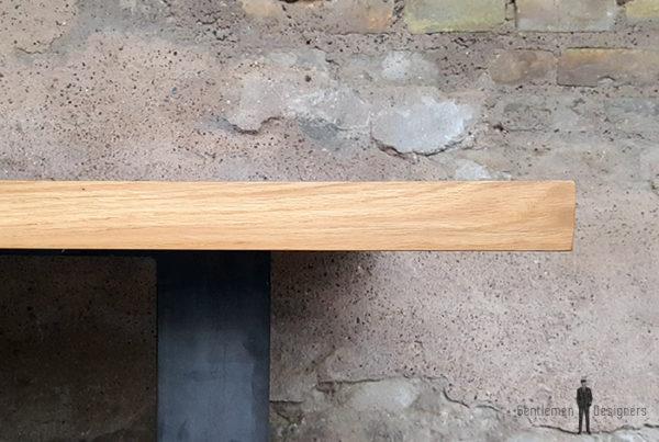 Table_chene_massif_pied_acier_brut_dore_vintage_bois_retro_design_annee_50_60_70_unique_original_gentlemen_designers_strasbourg_paris_alsace_handschuheim_bas-rhin_france-(9)